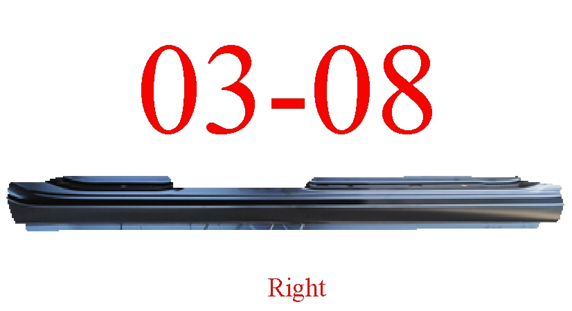 03-08 Toyota Corolla Right Extended Rocker Panel